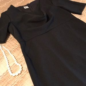 Anne Klein dress, black with short sleeves, 10